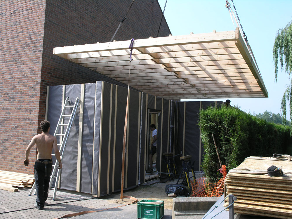 Conception de carport en belgique charpente construction bois