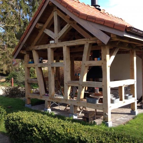Abris de jardin charpente construction bois for Abris de jardin sur mesure belgique